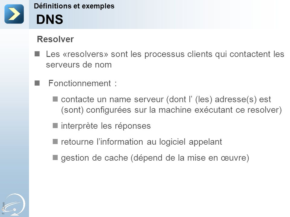 31-Mar-17 Définitions et exemples. [Title of the course] DNS. Resolver.